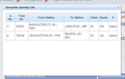 journey planner Saved Journey List