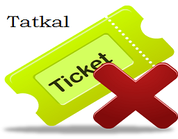 Tatkal Ticket Cancel