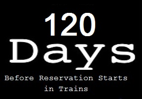 Advance Train Ticket Booking – Before 120 Days Now