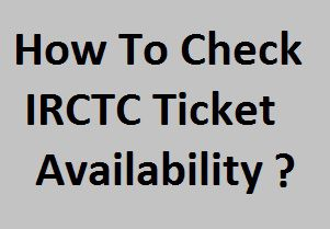 IRCTC Ticket Availability