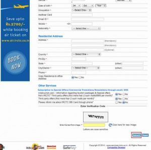 irctc login new account open