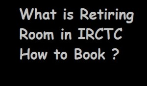 Railway Retiring Room Booking online