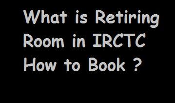 Railway Retiring Room Booking online