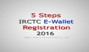 IRCTC eWallet Registration 2016