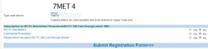 IRCTC Captcha and Submit Form