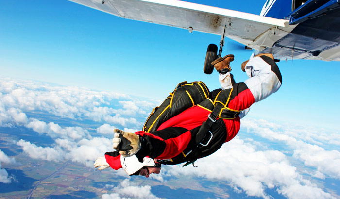 Sky Diving in Goa