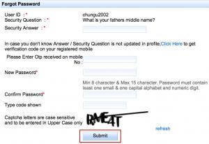 How to reset IRCTC password