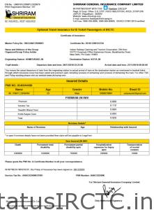 ICRTC Travel Insurance Policy Example