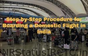 Procedure for Boarding a Domestic Flight in India