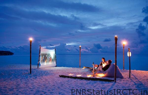 Projector at beach