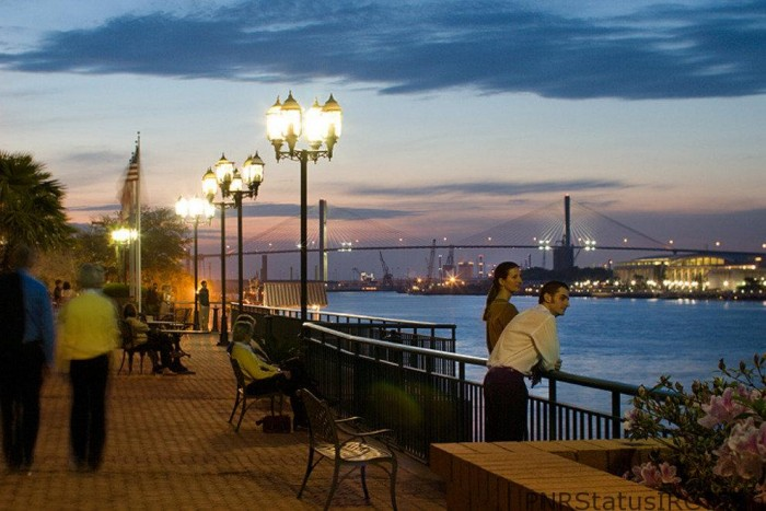 Savannah-riverfront-sunset