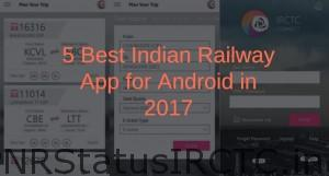 5 Best Indian Railway App for Android in 2017