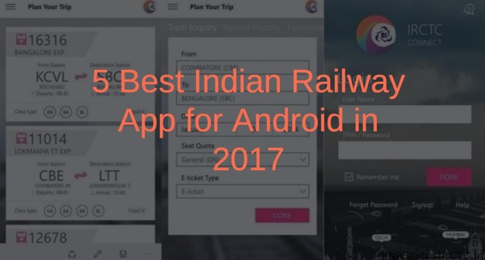 Best Indian Railway App for Android in 2017