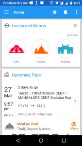 Wonderful Indian Railway app in 2017
