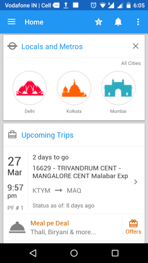 Wonderful Indian Railway app in 2017