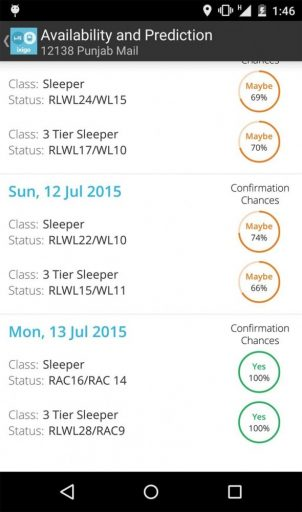 Great Indian Railways app for android device