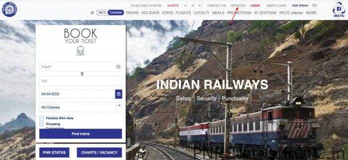 create a new account in irctc