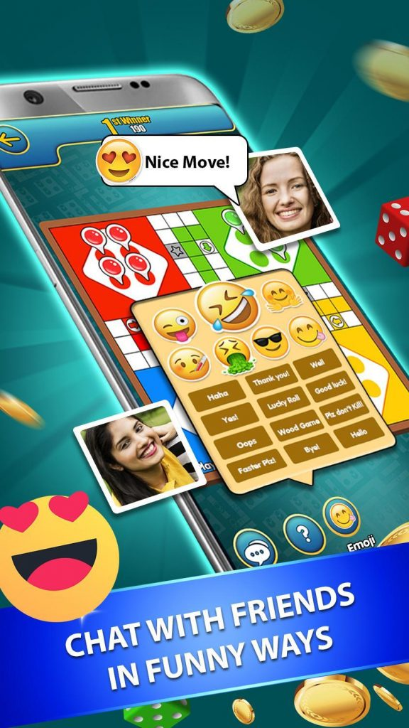 ludo king game me emoji chat kaise bhje