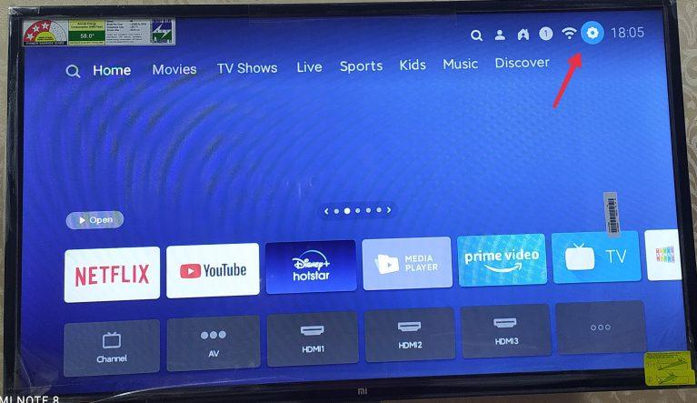 mi tv connect but no internet